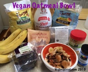 Vegan Oatmeal Bowl