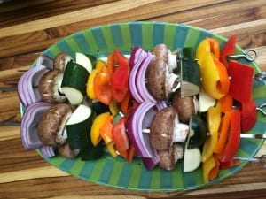 Vegetable Kebabs.