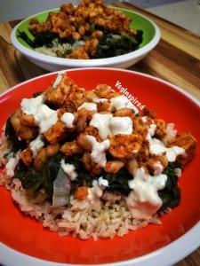 """Buffalo Beans and Greetns from """"PlantPure Nation Cookbook"""". Photo Credit: VegInspired"""